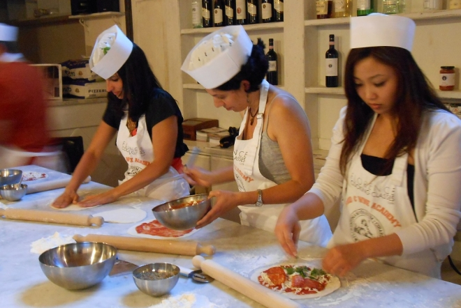 pizza gelato making class florence 4