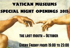 VATICAN MUSEUMS - Special Night Openings 2015